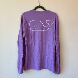 Vineyard Vines - Purple Logo Long Sleeve T-Shirt